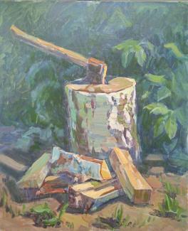 Натюрморт с дровами