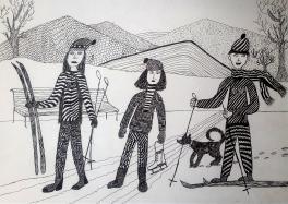 Семейная зимняя прогулка