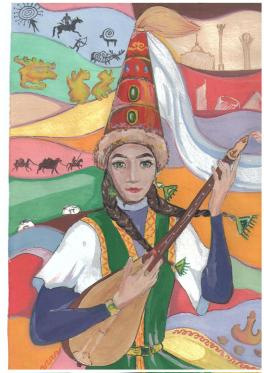 Казахская девушка Ажар