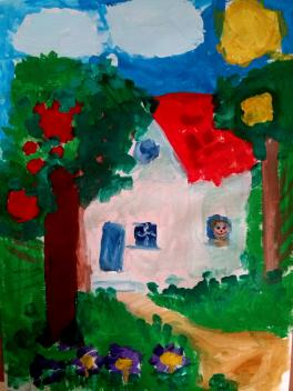 """Дачный домик, студия """"Рыжий лев"""", рук.Гольцева А.А."""
