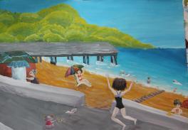 Встреча на пляже.