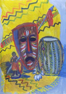 Натюрморт с африканским баробаном