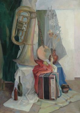 Натюрморт с музыкальными инструментами