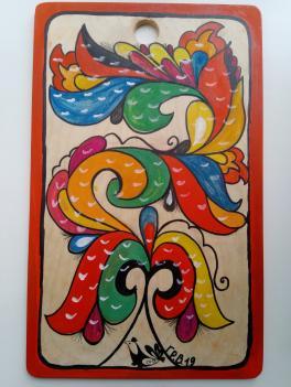По мотивам Ракульской росписи