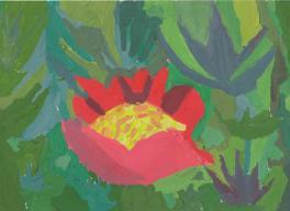 Этюд цветочной клумбы