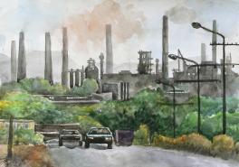 Дорога на металлургический комьинат