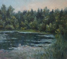Озеро в лесу.