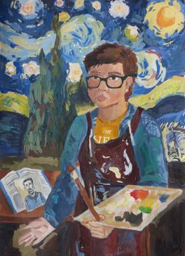 Автопортрет с Ван Гогом