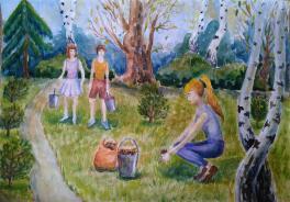 Семейный поход за грибами