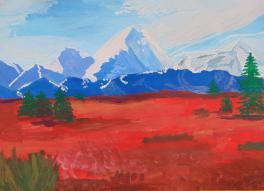 В краю голубых гор
