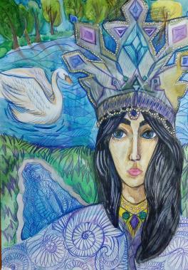«Автопортрет в образе Царевны Лебедь»