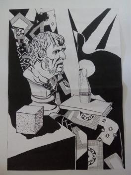 Натюрморт с гипсовой головой