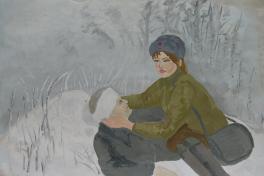 Военная медсестра.