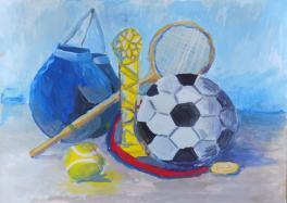 Натюрморт с футбольным мячом