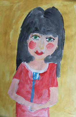 Портрет любимой мамы.
