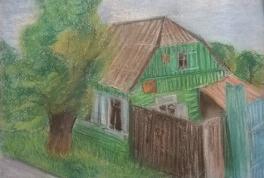 Старый двор. Пленэрная зарисовка.