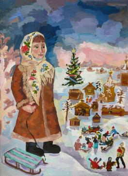 Иллюстрация к сказке С.Маршака «12 месяцев»