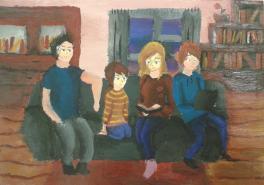 уютные мгновения с семьёй