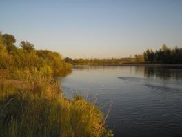 Вечер на реке Песчаная