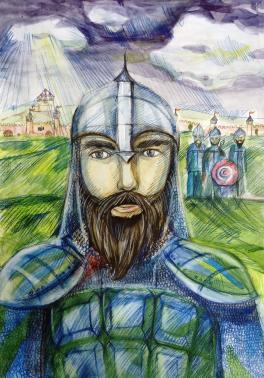 «Изучая историю, портрет Добрыни Никитича»