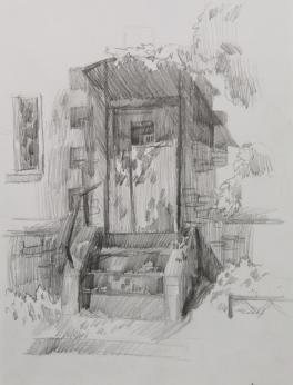 Пленэр в немецком районе (серия из 3 работ)