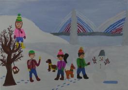 Зима на острове Русском