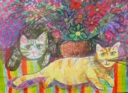 Цветочные коты
