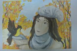 Автопортрет осенью
