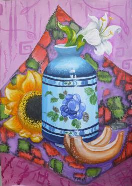 Декоративный натюрморт с лилией