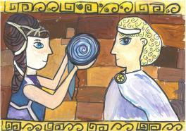 Тесей и Ариадна..