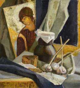 Натюрморт с иконой Рублева