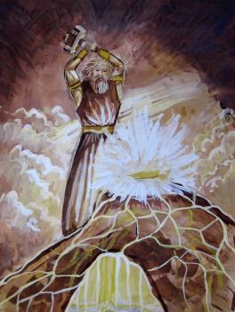 Сварог - бог-кузнец за работой