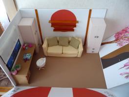 """Макет комнаты """"Восходящее солнце Японии"""" для моей семьи."""