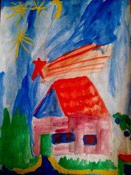 """Звездная ночь, студия """"Рыжий лев"""", рук.Гольцева А.А."""