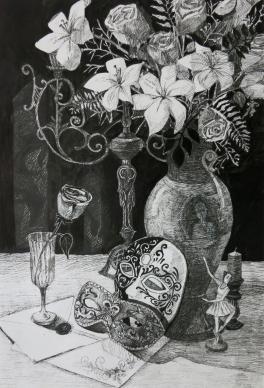 Натюрморт с венецианскими масками