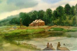 На озере Моховом