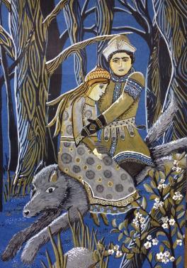 Иван-царевич на сером волке (по мотивам картины В. Васнецова)