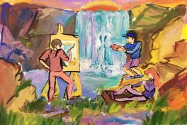 На кравцовских водопадах
