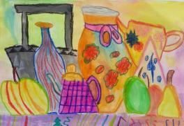 Натюрморт с фиолетовым чайником