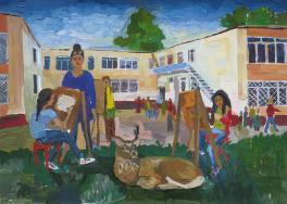 Пленэр в художественной школе