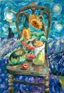 Натюрморт по мотивам живописи Ван Гога