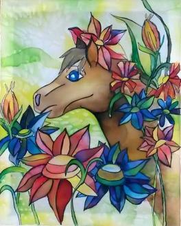 Сказочный конь, МБОУ ДОД ДХШ г. Магнитогорск, рук. Щербакова Е.А.