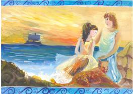 Ариадна на Наксосе. Древнегреческая легенда.