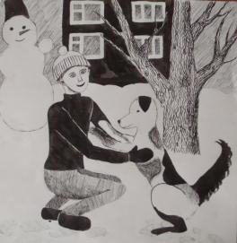 В зимнем дворе