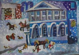Катание на лошадях в усадьбе Гальских