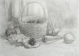 Натюрморт с корзинкой