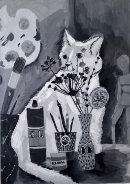 Кот художника