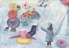 Зима на радость детям.