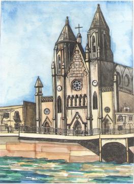 Мальта. Пленэр. Церковь в честь Святой Матери Кармель.