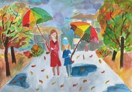Под зонтиками